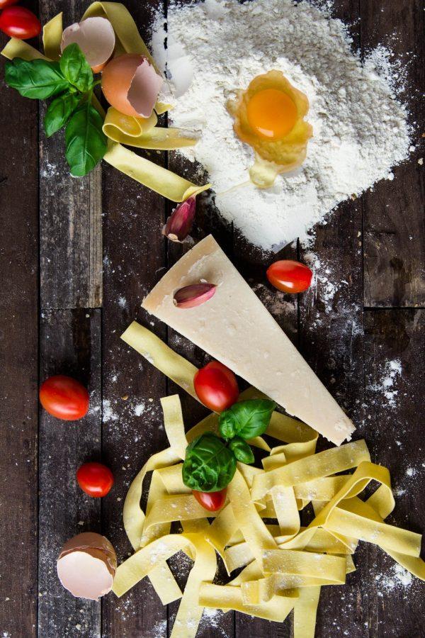 Italiaanse Pasta Gemaakt Van Bloem